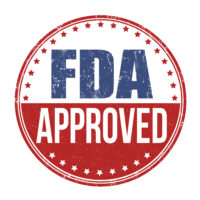 Badge that reads FDA approved