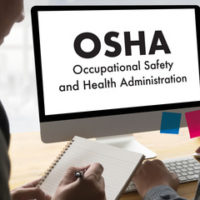 Screen that reads OSHA Safety